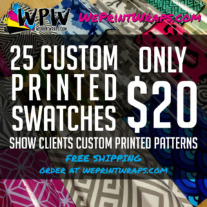 25 Custom Printed Swatches - Custom Swatch Book - $20