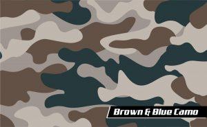 Brown & Blue Camo