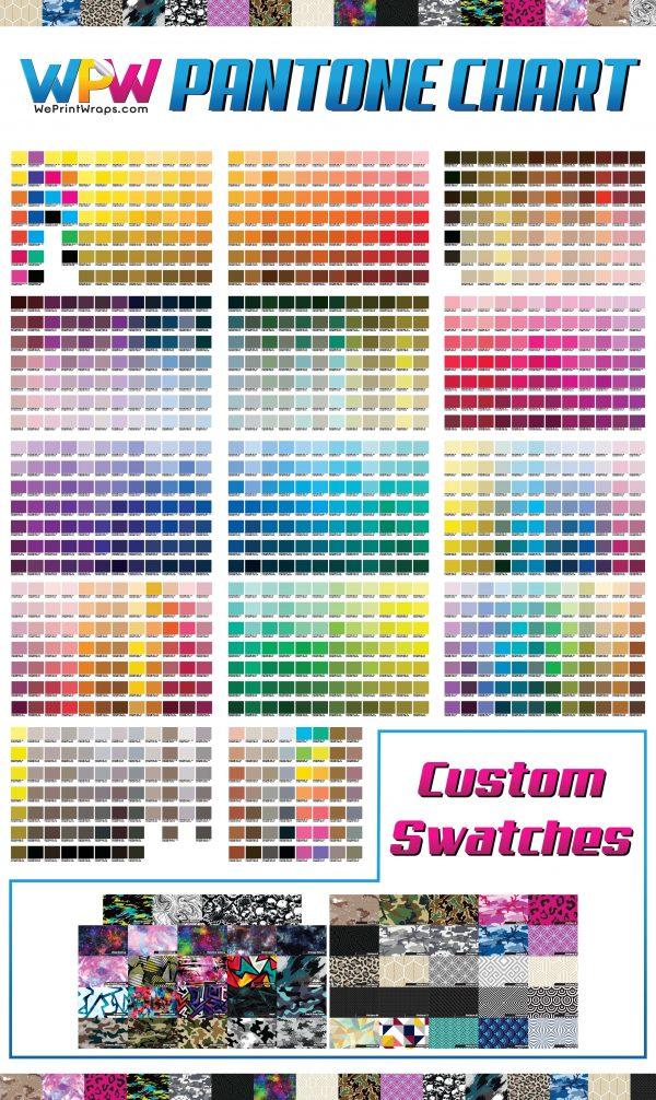 "Pantone Color Chart 30"" x 52"