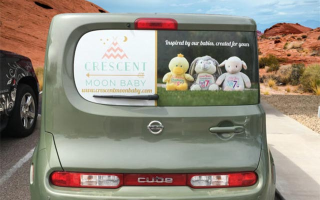 image of rear window graphic advertising